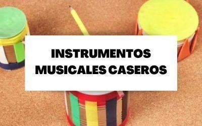 Cinco instrumentos musicales caseros para hacer con niños